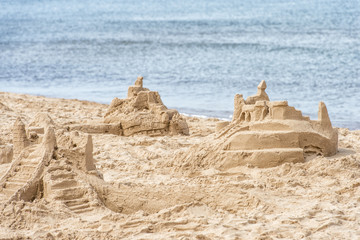 sandcastles at the beach