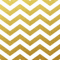 Gold wave seamless glitter zig zag pattern on white background