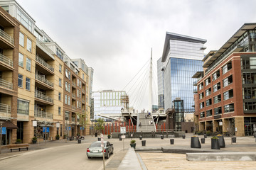 Luxury residential buildings in Denver downtown, Colorado