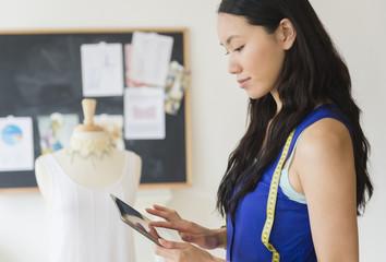 Designer using digital tablet