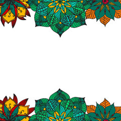 Flower mandala background