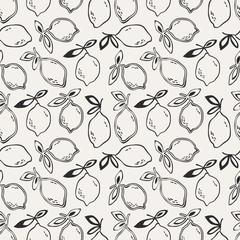 seamless pattern with lemon fruits