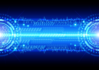 vector background abstract technology communication concept. ill