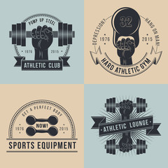 Logos for sport athletic club