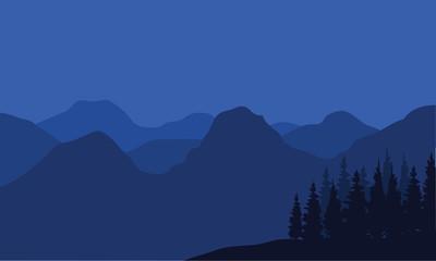 Beautiful Mountain And Sunset