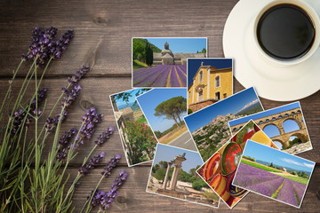 Travel to Provence concept