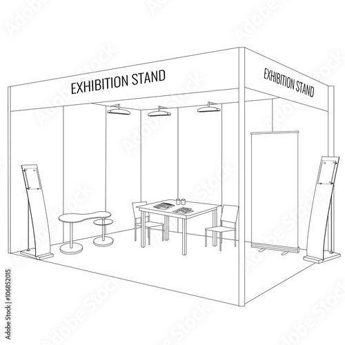 Exhibition Booth Vector : Quot vector blank trade exhibition booth stand trendy outline