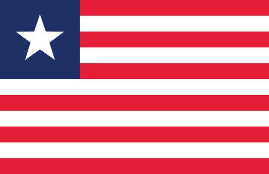 Liberia flag.