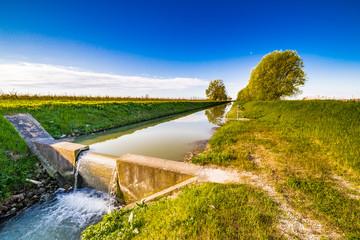 Modern irrigation canal