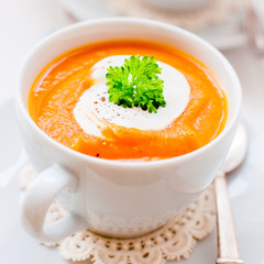 Cream Carrot Soup in a Cup
