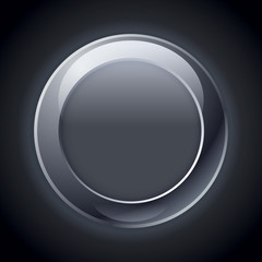 Vector web empty button, free icon, black gloss button, elements for you design project and business presentation