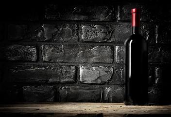 Brick wall and cabernet