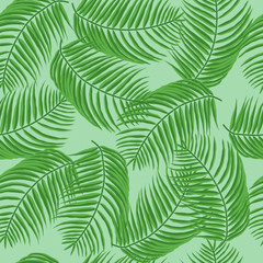 Foto op Canvas Tropische Bladeren Palm leaves pattern. Can be used to advertising, decoration of cards, phones, baby food, toys, websites, furniture, bags, home decoration, linens etc.