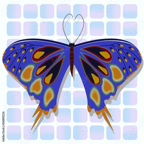 Butterfly can be used to advertising decoration of cards phones