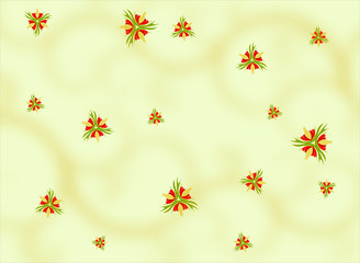 Background with Blossom Motives
