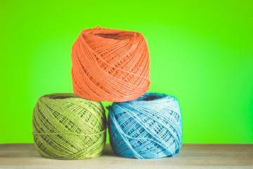 colorful yarn with filter effect retro vintage style