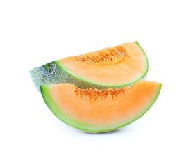 Ripe cantaloupe melon isolated on white background
