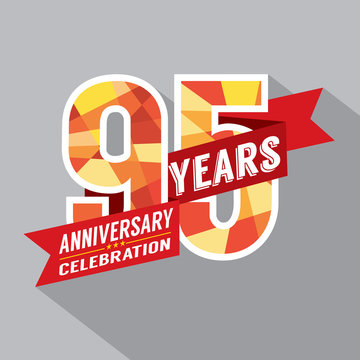 95th Years Anniversary Celebration Design.