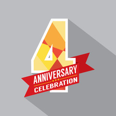4th Years Anniversary Celebration Design.