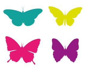 Schmetterlinge Sammlung Set Vektor
