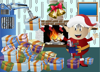 christmas elf clip-art