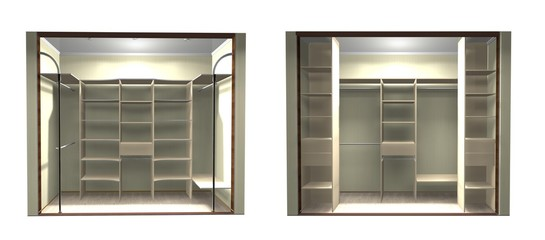 inner filling, 3D rendering design wardrobe