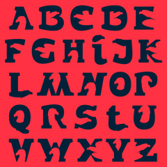 Alphabet letters with eagle negative space.