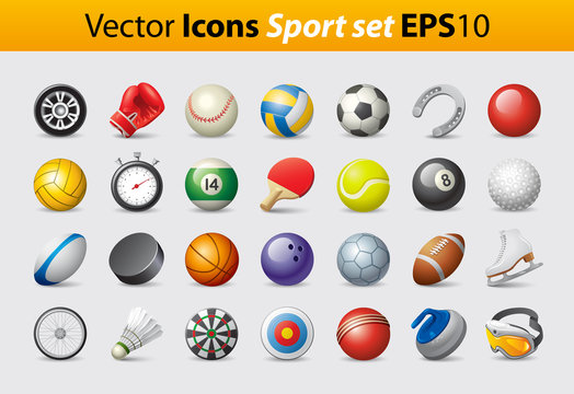 Vector Icons Sport Set
