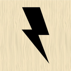 thunder icon design