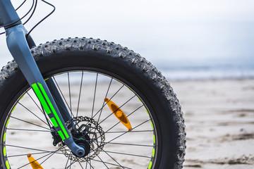 Fat bike on beach