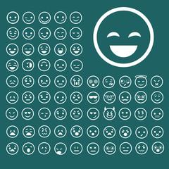 Emotion smiles set. Vector illustration