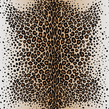 The seamless vector pattern leopard`s skin