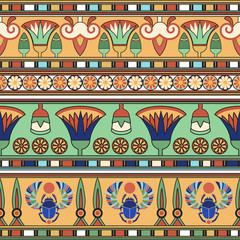Egyptian ornament. Сollection. Vector illustration