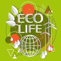 Ecology Green Banner Concept Eco Life