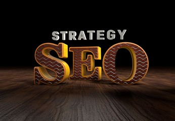SEO, Strategy, 3D Typography