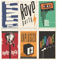 Retro music posters collection