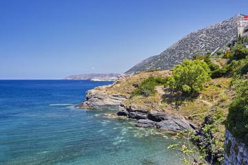 Sea view on the Crete Island