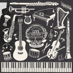 Classical Music Retro Illustration