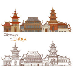 Drawing of Typical Chinese Architecture