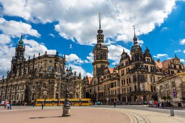 Dresden Hofkirche Theaterplatz