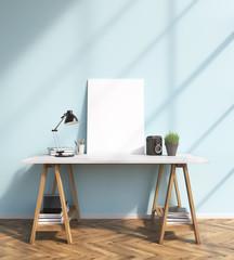 Frame on table