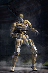 Wall Mural - Robot Futuristic soldier