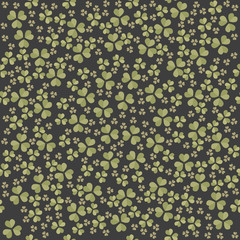 Endless pattern with Clover leaves for St. Patrick's day
