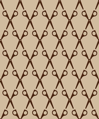 Seamless pattern with scissors