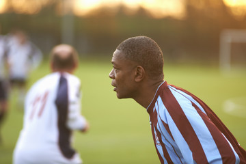 Football player alert at game