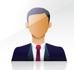 vector image of a businessman