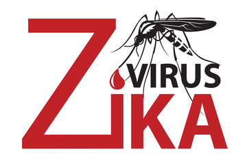image of Zika virus alert with mosquito
