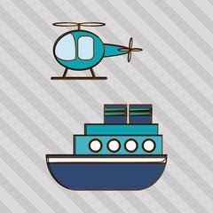 Transportation icon design, vector illustration