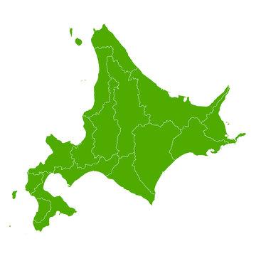 北海道 地図 緑 アイコン