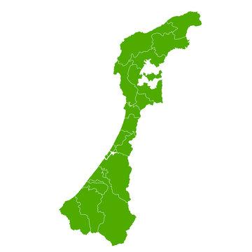 石川 地図 緑 アイコン